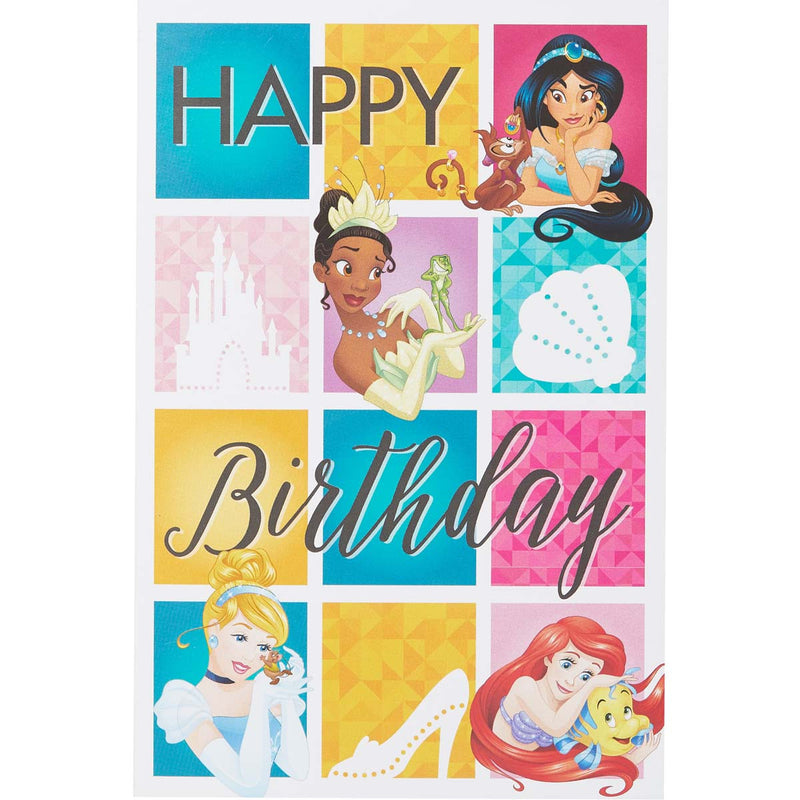 Carte anniversaire Disney Princesses