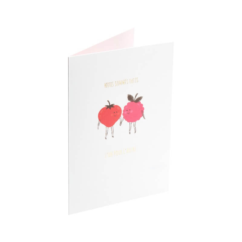Carte Saint-Valentin - Couple de fruits