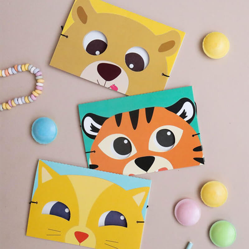 Carte carnaval masque tigre Team Kids