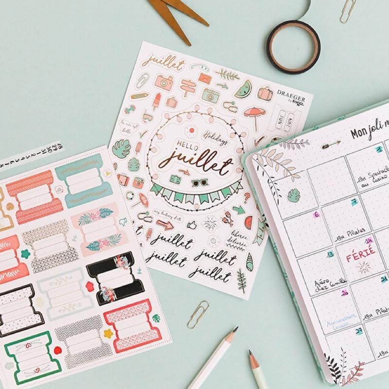 Stickers & sticky notes pour agenda/bullet journal