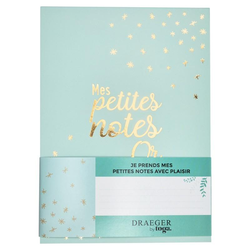 Bloc-notes Mes petites notes en or