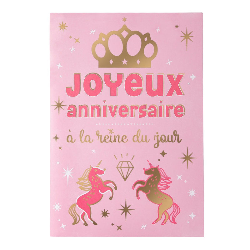 Carte musicale anniversaire Happy birthday to you