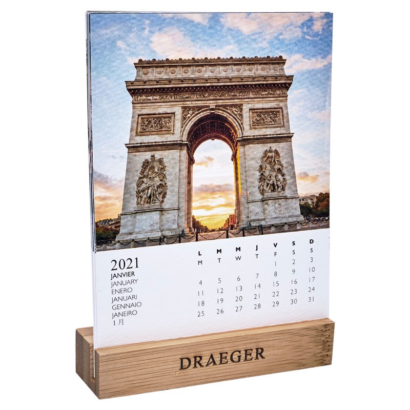 Calendrier sur socle Paris 2021