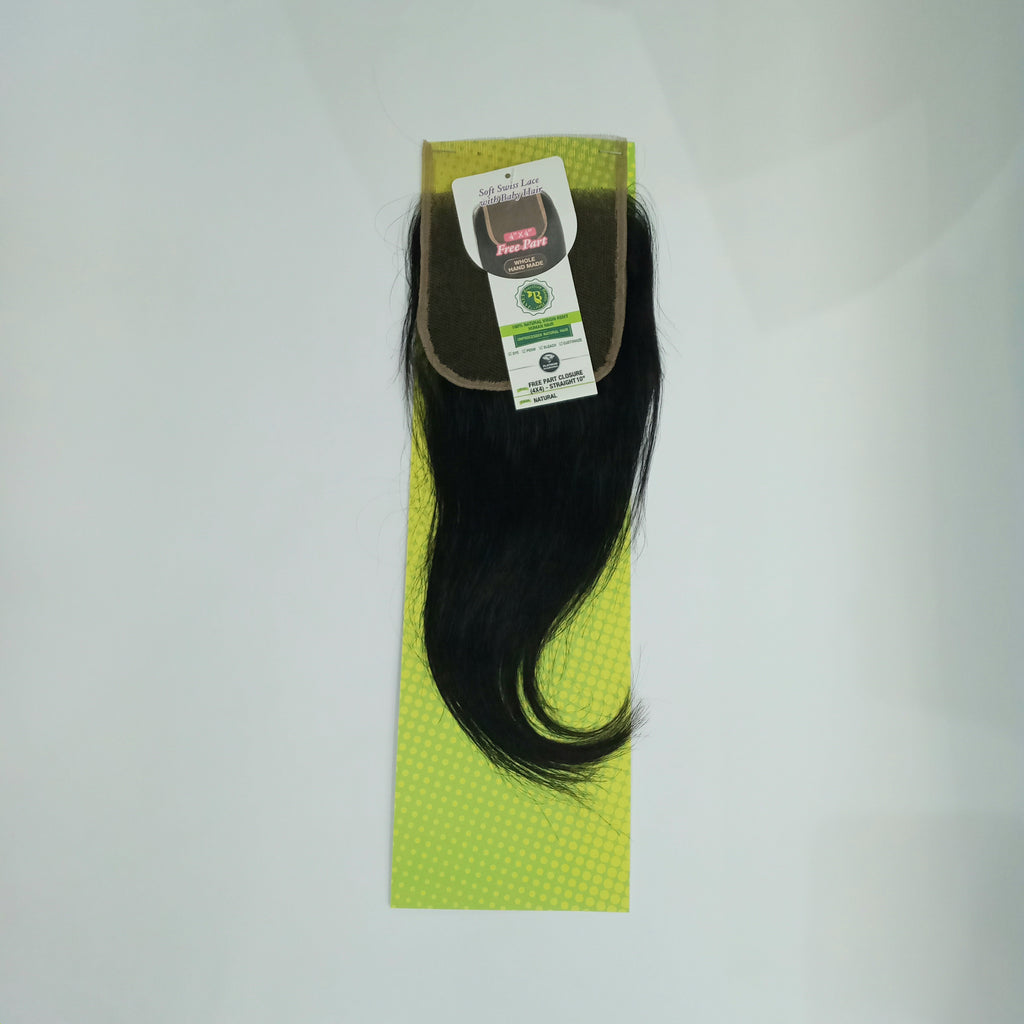 Janet Collection Brazilian Closure Straight 10inch 4x4 inch