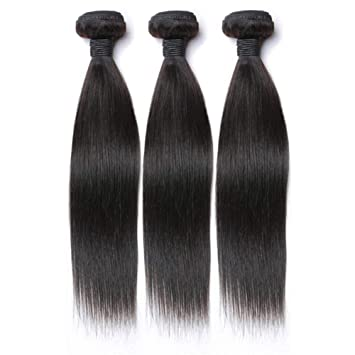 Hair4U 8A Indian Virgin Hair Extensions Straight 3 Bundles 300G