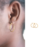 Gold Stainless Steel Hoop Earrings Small
