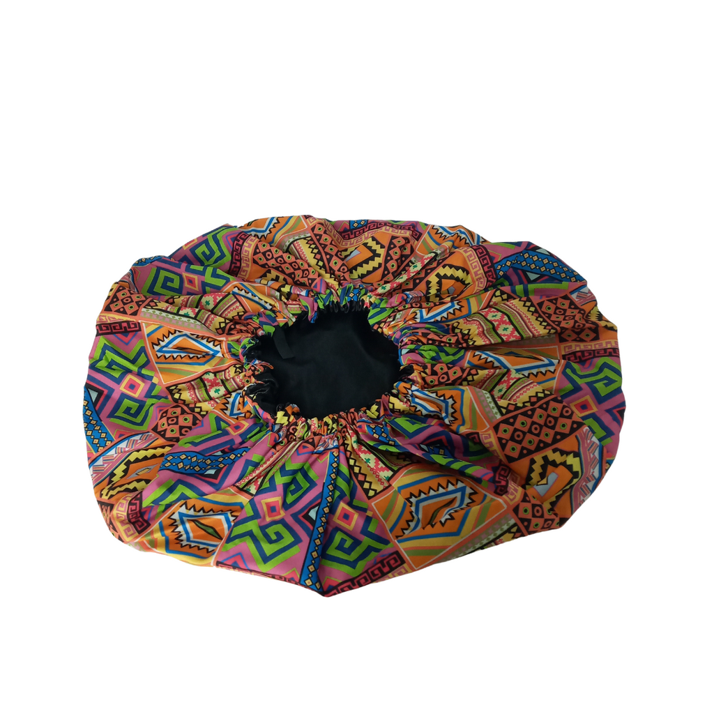 Silky African Print Bonnet Jumbo (Yellow Multicolored)