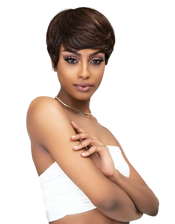 Janet collection Pixie Cut Human Hair wig Diann #1 BLACK