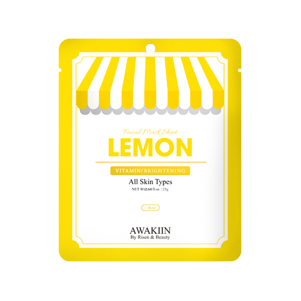 Awakiin Vitamin/Brightening Facial Mask Sheet Lemon