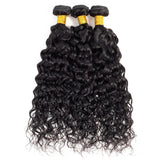 Hair4U 8A Indian Virgin Hair Extensions waterwave 3 Bundles 300G