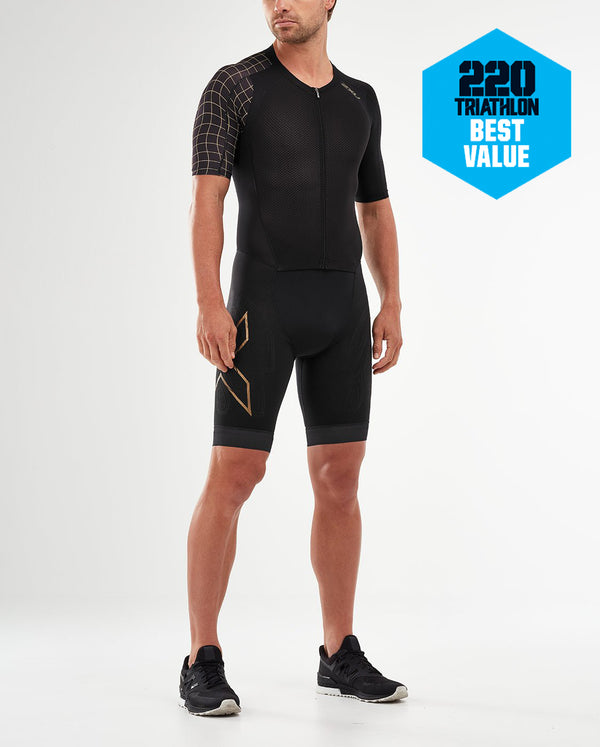 Compression Full Zip Sleeved Trisuit