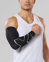 Compression Arm Guard (Single) - Black/Silver