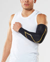 MCS Elite Compression Arm Guards - Black/Gold