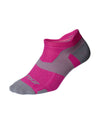 Vectr Lightcushion No Show Socks - Magenta/Light Grey