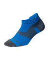 Vectr Lightcushion No Show Socks - Vibrant Blue/Grey