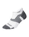 Vectr Lightcushion No Show Socks - White/Grey