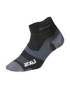 Vectr Ultralight 1/4 Crew Sock - Black/Titanium