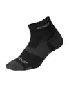 Vectr Light Cush 1/4 Crew Sock - Black/Titanium