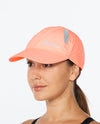 Run Cap - Pop Coral/White