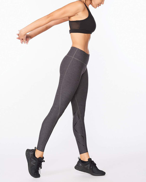 Motion Print Mid-Rise Compression Tights