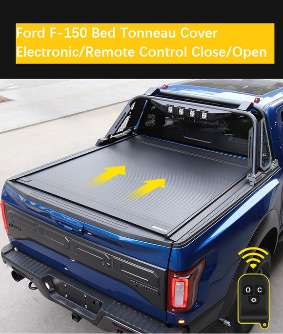Ford Truck Electronic Bed Tonneau Cover w/Remote Control (4558177075278)