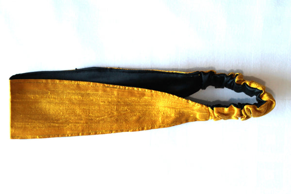 1273. Silk Yellow / Gold Headband (Soft)