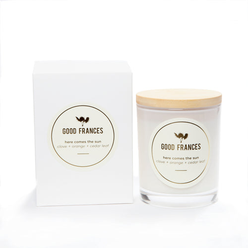Clove, Orange & Cedar Leaf Coconut Soy Candle