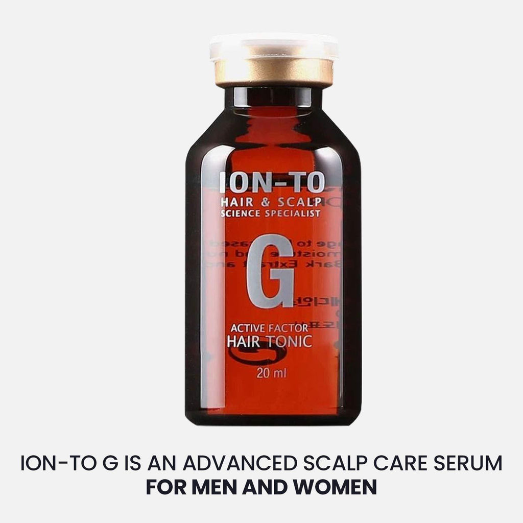 Histemo ION-TO G Hair Tonic, Hair Regrowth Topical Treatment Serum, Prevents Hair Thinning & Loss, Peptides, Amino Acids & Growth Factor Protein, Clinically-Proven for Hair Growth, 1 Month Supply (20 ml, 4 pieces)
