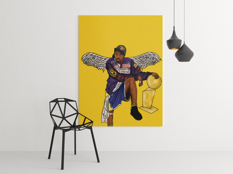 Kobe Angel Canvas
