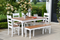 Farm House 72 inch Dining Table Set with 4 Dining Chairs and 1 60 inch Bench by Wildridge