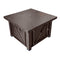 Outdoor Fire Pit Table in Hammered Bronze
