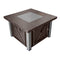 Outdoor Fire Pit Table in Hammered Bronze and Stainless Steel