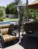 Outdoor Natural Gas Patio Heater in Hammered Bronze