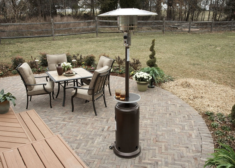Outdoor Patio Heater in Hammered Silver