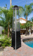Commercial Glass Tube Patio Heater in Black