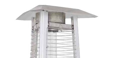 Commercial Glass Tube Patio Heater in Stainless Steel