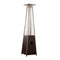 Glass Tube Patio Heater in Hammered Bronze with wheels