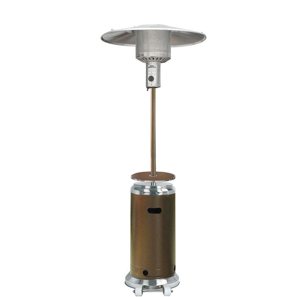 AZ Patio Heaters - Outdoor Two Toned Patio Heater in Stainless Steel and Hammered Bronze