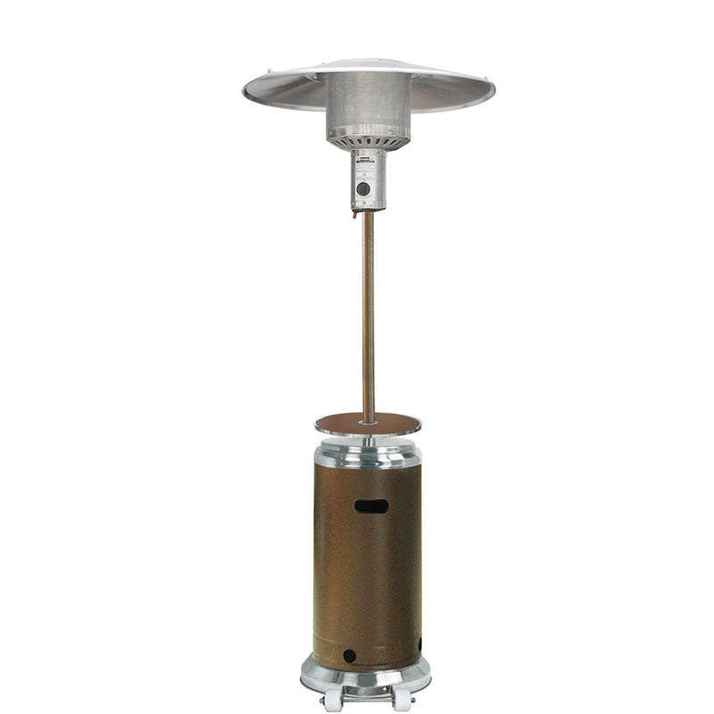 Outdoor Two Toned Patio Heater in Stainless Steel and Hammered Bronze