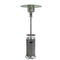 AZ Patio Heaters - Outdoor Two Toned Patio Heater in Stainless Steel and Hammered Silver