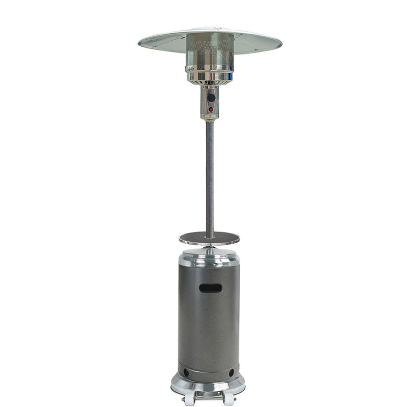 Outdoor Two Toned Patio Heater in Stainless Steel and Hammered Silver