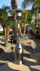 Outdoor Tapered Patio Heater in Stainless Steel
