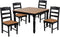 Outdoor Farm Table set with 4 Chairs by Wildridge