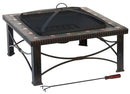 "30"" Square Slate Tile Wood Burning Fire Pit"
