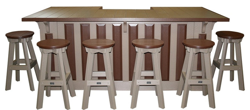 Bar Set - 8 foot with 6 Stools by Wildridge