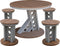 5 Piece Contemporary Manhattan Rise Dining Set
