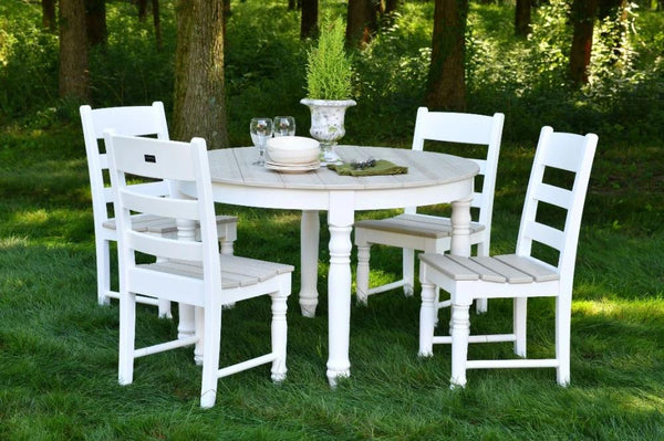 "5 Piece Farm House 48"" Round Dining Set"