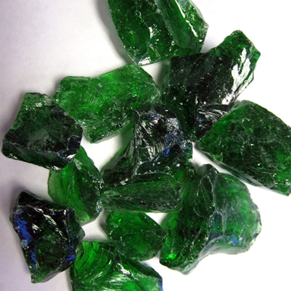 Recycled Fire Pit Fire Glass in Green