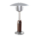 Table Top Patio Heater in Stainless Steel and Hammered Bronze