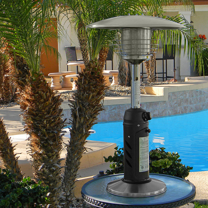 Table Top Patio Heater in Stainless Steel and Black